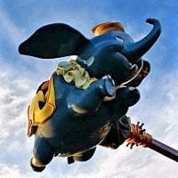 空飛ぶダンボの写真